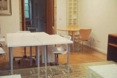 Vista del despacho con distinta disposición y mobiliario