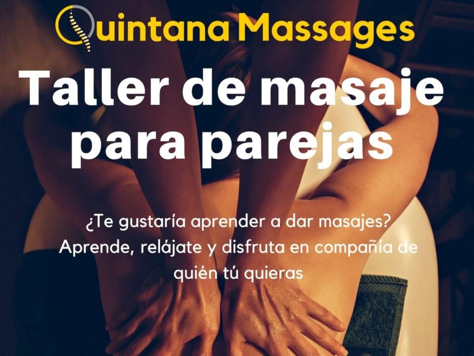 Taller de masajes para parejas