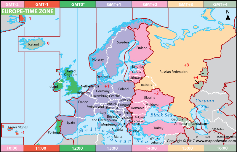 Europe-Time-Zone-Map
